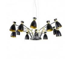 lámpara Retro oro satinado 12