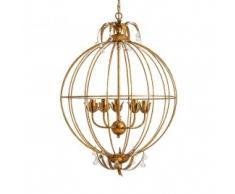 Lámpara de techo circular dorada
