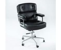 silla oficina piel negra