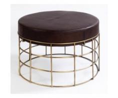 mesa de centro - puff Piel