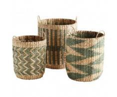 cestas mimbre Zag verde