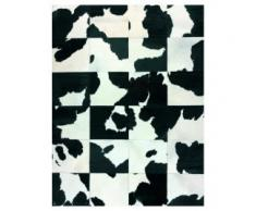 alfombra patchwork piel vaca