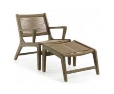 sillón + reposapiés jardín Basso