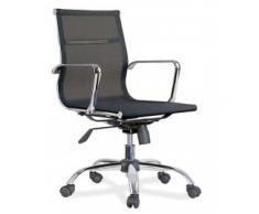silla oficina réplica eames negra baja malla