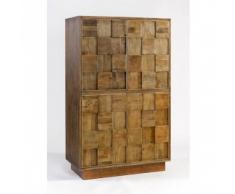 armario madera cobre