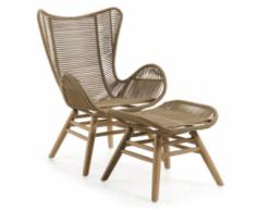sillón + reposapiés jardín natural Kubic