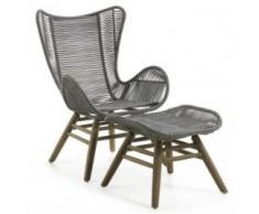 sillón + reposapiés jardín Kubic