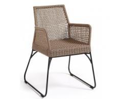 silla jardín con brazos Novak beige