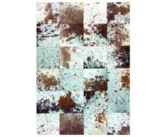 alfombra patchwork piel jaspeada