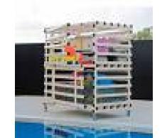 Armario acuático con ruedas de dos puertas en PVC: Resistente a la humedad