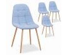 Carla REGALO CESTA NAVIDAD Pack de 4 sillas de comedor nordicas Carla tela a