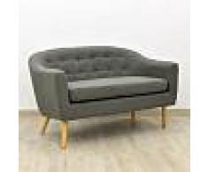 Savoy REGALO CESTA NAVIDAD Sofa Savoy 2 plz, tela gris oscuro