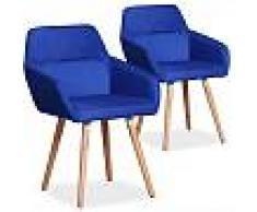 Frida REGALO CESTA NAVIDAD Lote de 2 sillas estilo nórdico Frida tela azul