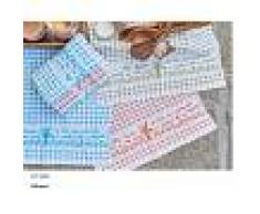 Bomdia Classic® 3 Paños de cocina rizo 50x50 cm color azul naranja verde (KT 146)