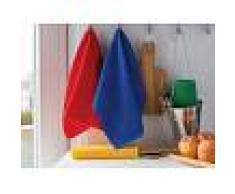 Bomdia Classic® 4 Paños de cocina de rizo 50x50 cm color azul, rojo, verde amarillo - BomDia (KT133)