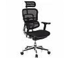 Hjh Silla de oficina Ergonómica ERGOMAX, Ajustable color negro