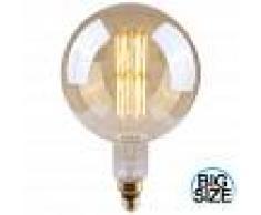 7hSevenOn Vintage Bombilla LED Globo G200 Gigante E27 8W Equi.40W 500lm Vintage Regulable Gold 25000H