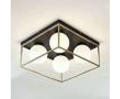 LINDBY Lámpara de techo Aloam con 4 bolas de cristal - LINDBY