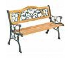 TECTAKE Banco para jardín de madera Kathi - banco de exterior para terraza,