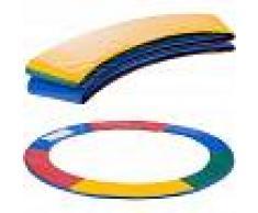 Arebos Almohadillas de seguridad Cojín Trampolín 244cm Multicolor