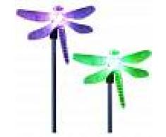 ASUPERMALL 2 piezas, luz de estaca de jardin solar LED, luz de decoracion de