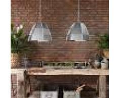 QAZQA Industrial Set de 2 lámparas colgante NIRO blank acero Metálica