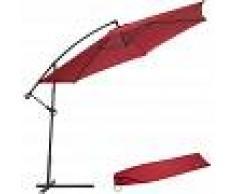 TECTAKE Sombrilla 350cm - parasol excéntrico de jardín, sombrilla metálica para