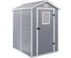 HABITAT ET JARDIN Caseta de jardín Texas - 2.47 m² - 190 x 130 x 203 cm- Gris - HABITAT