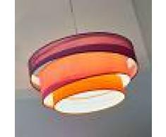 LINDBY Lámpara colgante Melia colorida, violeta, rosa - LINDBY