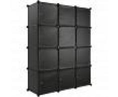 TECTAKE Estantería Katja - estantería modular multifuncional, mueble con
