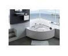 SIMBA Bañera hidromasaje Bañera de esquina hidromasaje blanco SPA 135 x 135cm