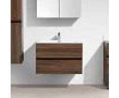 STANO Mueble lavabo + lavabo 80cm MONTADO SIENA NOGAL - STANO