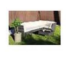 KieferGarden – Conjunto Set Muebles Jardín y Terraza, 5 plazas, Gris,