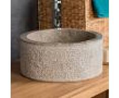 WANDA COLLECTION Lavabo 35 cm cuarto de baño de mármol ELBA gris topo - WANDA COLLECTION