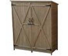 GARDIUN Caseta Armario Gardiun Sundy 140x50x162 cm Madera Maciza para Exterior