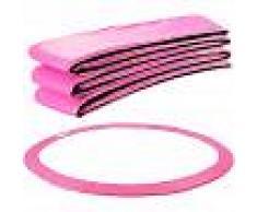 Arebos Almohadillas de seguridad Cojín Trampolín 487 cm rosa