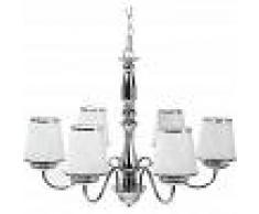 BELIANI Lámpara de techo en cristal y metal cromado BRADANO - BELIANI