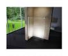 BERNSTEIN Cabina de ducha de vidrio lateral, EX101, medida a elegir:1400mm