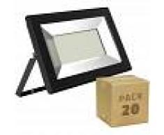 EFECTOLED Pack Foco Proyector LED Solid 30W (20 un) Blanco Cálido 3000K
