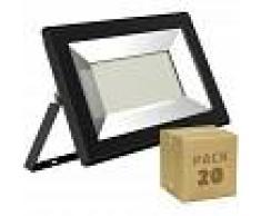 EFECTOLED Pack Foco Proyector LED Solid 50W (20 un) Blanco Cálido 3000K