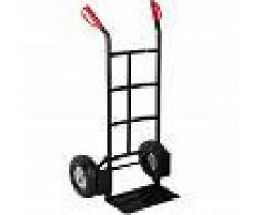 TECTAKE Carretilla con ruedas - transpaleta con pala para jardín, carretilla de