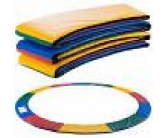 Arebos Almohadillas de seguridad Cojín Trampolín 366cm Multicolor