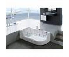 SIMBA Bañera hidromasaje Bañera de esquina hidromasaje y vitrio panoramico