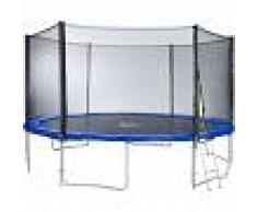 TECTAKE Trampolín con red de seguridad, variante 2 - cama elástica para niños,