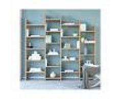 HOMEMANIA Libreria Skyler Mueble de Pared - Estanteria para Libros - con