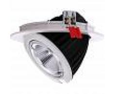 BARCELONA LED Downlight LED redondo empotrable basculante 48W Blanco neutro 4000K