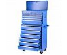 GREENCUT Carro para herramientas PRO armario acero 4 ruedas 16 cajones Azul