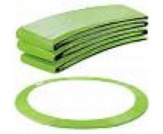 Arebos Almohadillas de seguridad Cojín Trampolín 396 cm verde claro