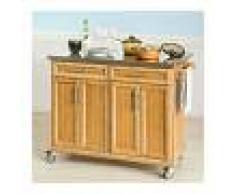 SoBuy FKW69-N,Carrito de cocina con piso de acero,con tablero