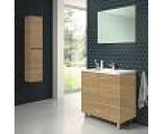 STANO Conjunto RAKI, Mueble de lavabo 80cm, espejo y columna HERA - STANO